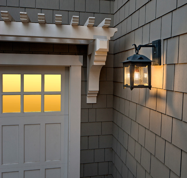 Loma lantern craftsman exterior santa barbara by for Craftsman style garage lights