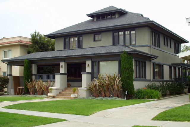 Long beach prairie style craftsman exterior other for Craftsman style architects