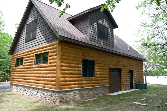 Long Lake Home Rustic Exterior Other Metro By