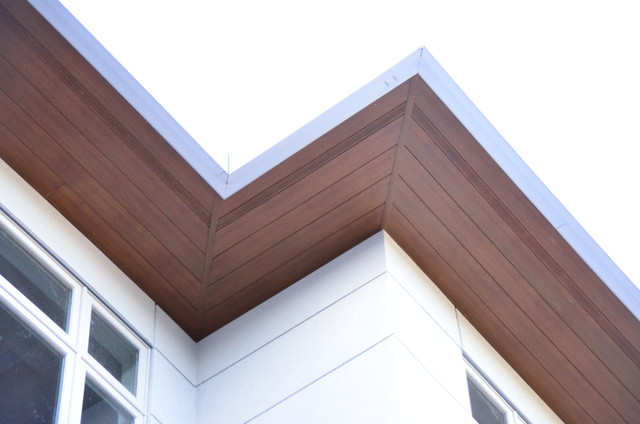 Longboard Premium Soffit With Continues Vent Strip Modern Exterior Toronto By Alu Pro Exteriors Houzz Nz