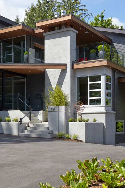 Looking Up The Driveway Modern Exterior Vancouver By My