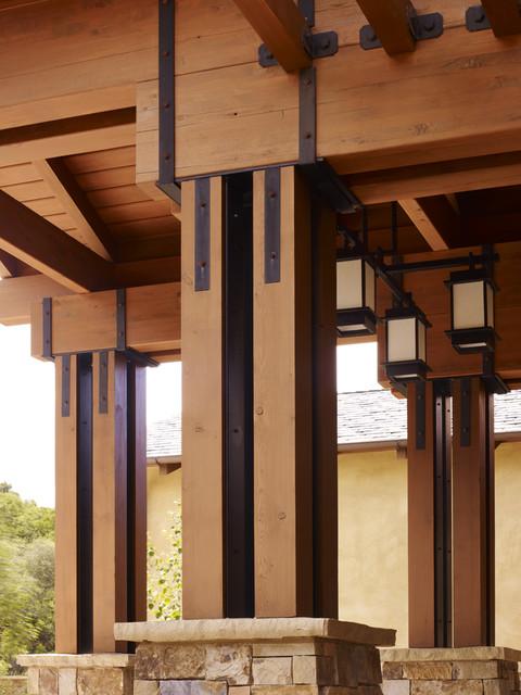 Los Gatos Northwestern Contemporary Custom Home craftsman-exterior