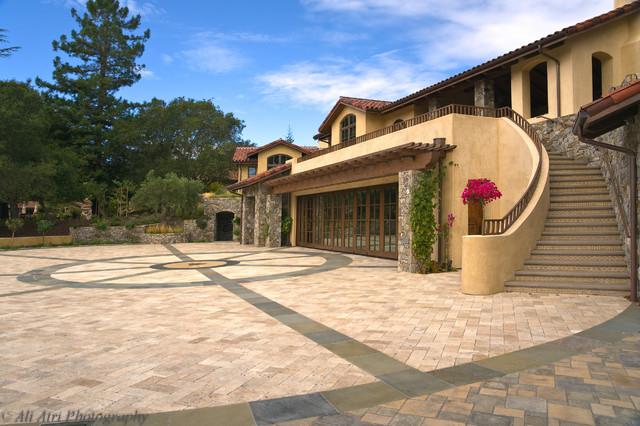 Los Gatos Tuscan Estate mediterranean-exterior