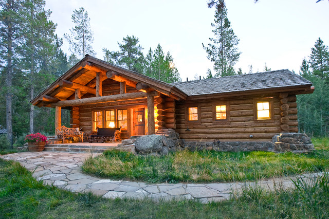 Lost creek cabin rustic exterior other metro by for Log home architects