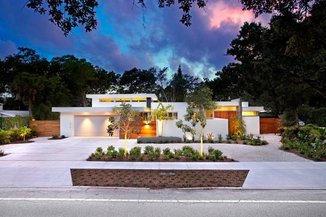 Lotus On Orange Contemporary Exterior Tampa By