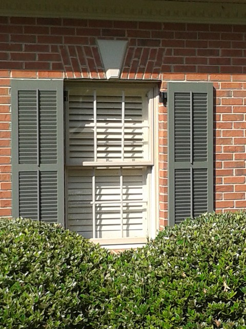louvered colonial with tilt rod traditional exterior