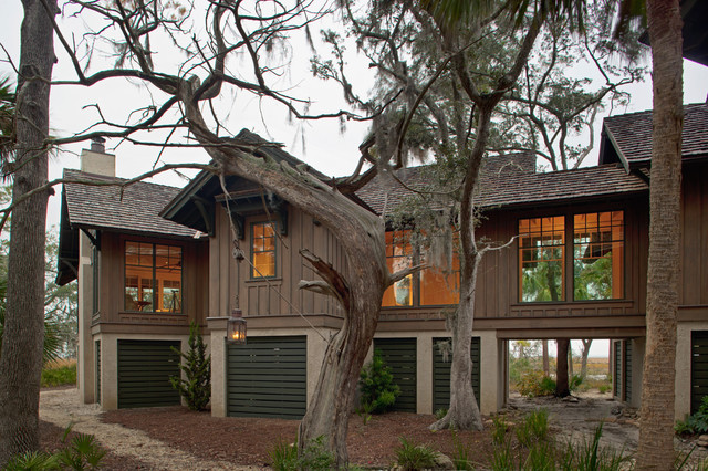Low Country Tree House Beach Style Exterior Charleston By Wayne Windh