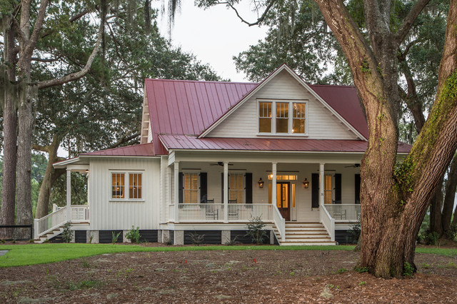 Lowcountry cottage at oldfield sc traditional exterior for Low country cottage