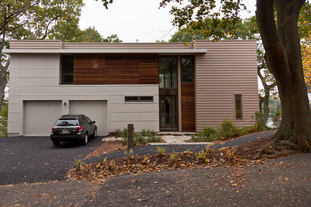 Lower Mystic Lake House contemporary-exterior