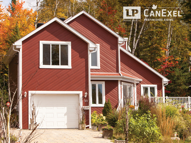 Lp canexel ultraplank 1 contemporain fa ade for Prefinished siding