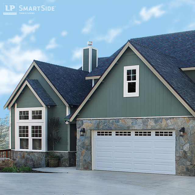 Lp smartside panel siding 3 traditional exterior for Smartside engineered wood siding