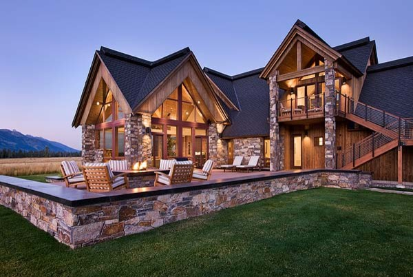 Lucky L Ranch; Jackson Hole, WY traditional-exterior
