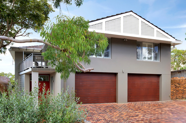 Lugarno modern exterior sydney by house to home for Modern home exterior finishes