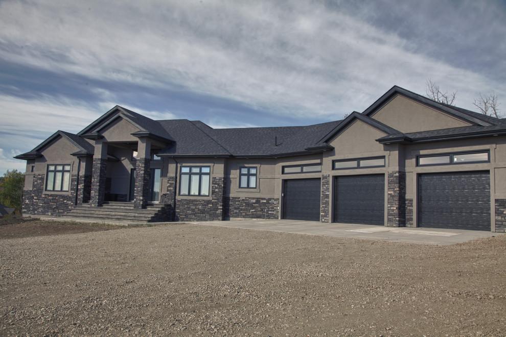 Luxury Acreage Estate In Alberta Contemporary Exterior Edmonton By Bengel Custom Homes