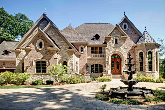 Luxury custom manor in northern illinois traditional for Luxury brick house plans