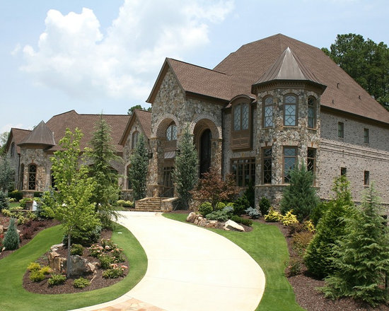 Stone and brick elevation home design ideas pictures for Brick and stone elevations