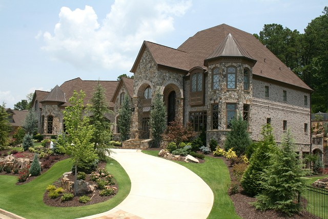 luxury european style homes traditional exterior - Luxury Homes Exterior Brick