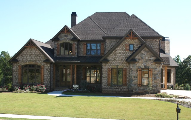 Luxury european style homes traditional exterior for Atlanta house plans