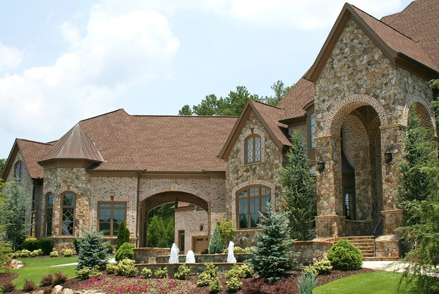 Luxury european style homes traditional exterior for Custom stone homes