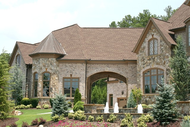 Luxury european style homes traditional exterior for A e custom homes