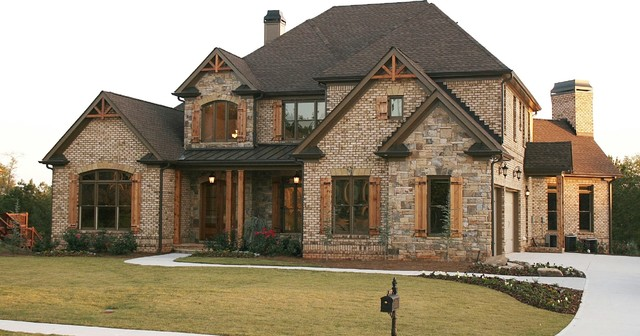 Luxury european style homes traditional exterior for Traditional brick homes