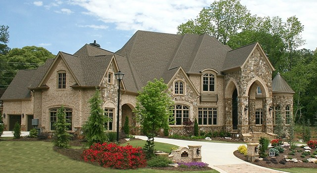 Luxury european style homes transitional exterior for European estate house plans