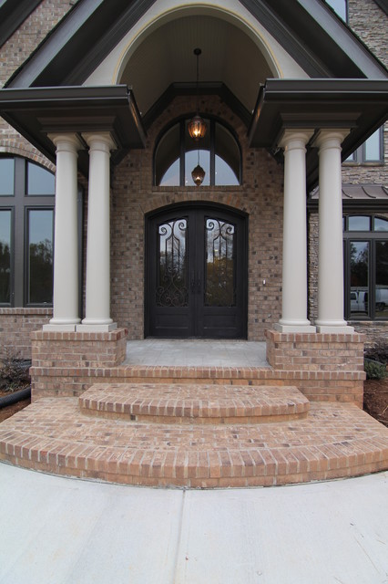 luxury home front entrance traditional exterior - Luxury Homes Exterior Brick