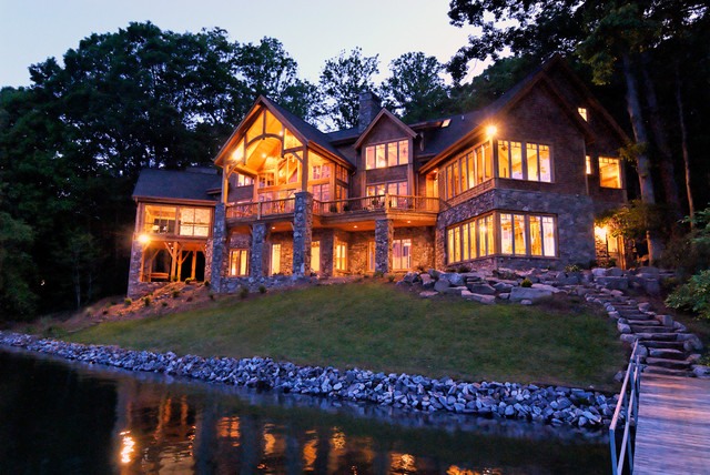 Luxury lake retreat architectural designs house plan for Luxury lake house plans