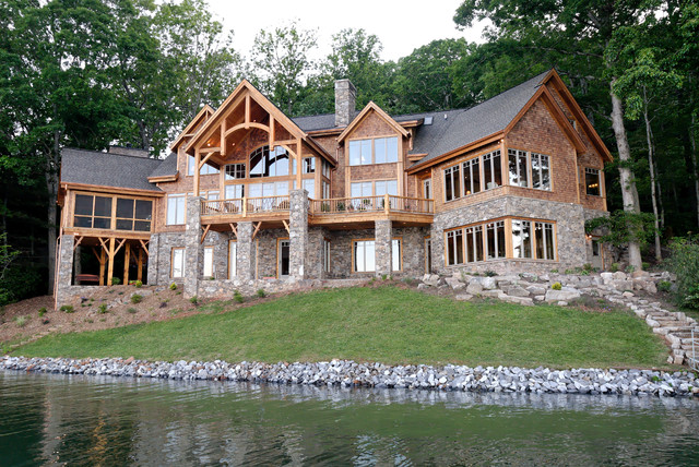 Luxury lake retreat architectural designs house plan for Lake home floor plans