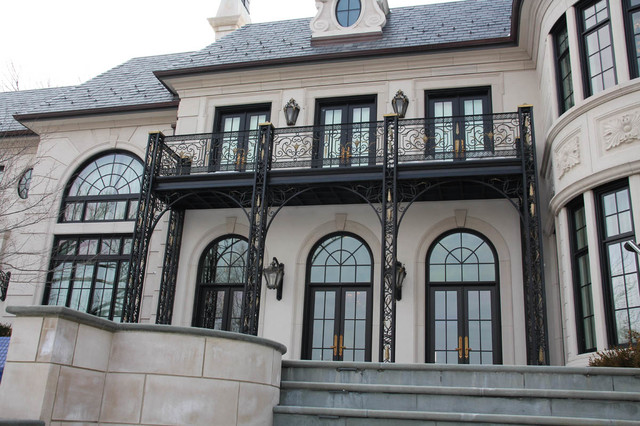 Luxury ornamental iron balconies for Traditional balconies