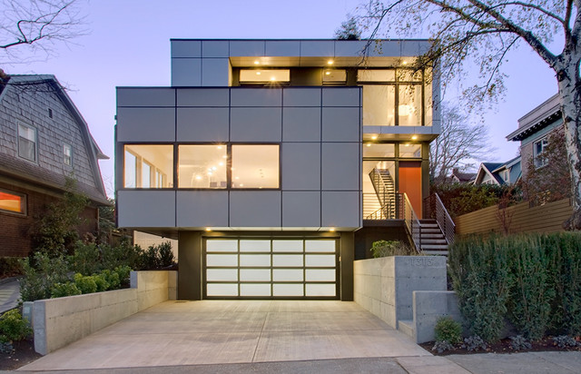 Luxury Queen Anne Contemporary House - Contemporary - Exterior ...