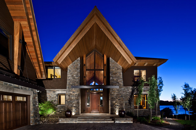 Luxury Tour Home Rustic Exterior Minneapolis By