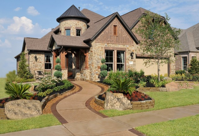 M I Homes Of Houston Winston Park Sophia Model Traditional Exterior Houston By M I Homes