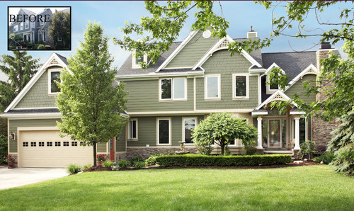 Building Exterior Sage Siding : Brown roof sage siding please help