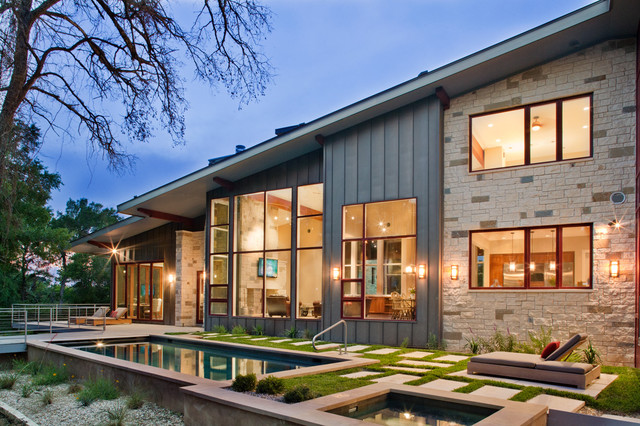 Mackey Ranch contemporary exterior