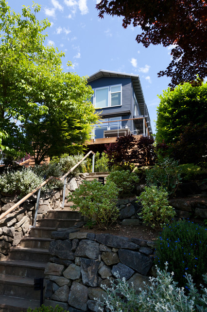 Magnolia Contemporary Exterior Exterior Seattle By Excel Home Painting