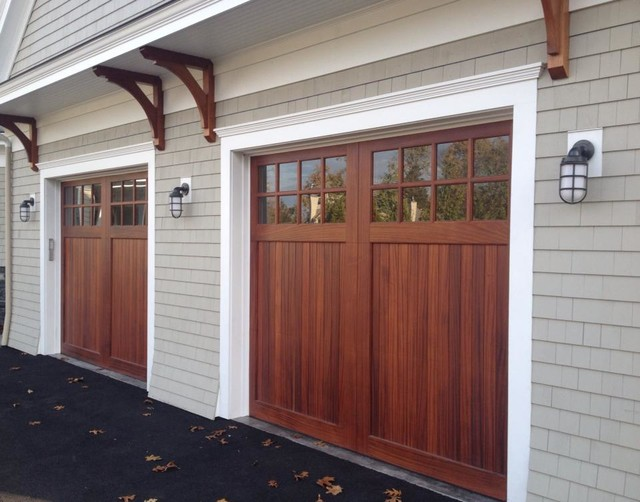 Mahogany Garage Doors - Carriage Doors - dc metro - by Clingerman Doors - Custom Wood Garage Doors