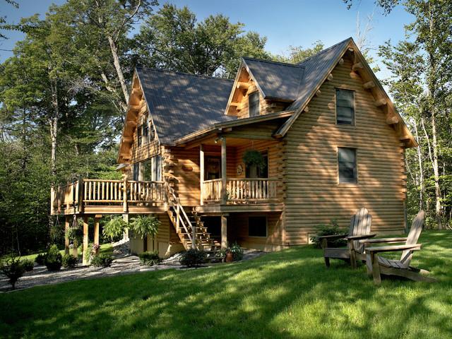 Maine Lakeside Retreat Rustic Exterior