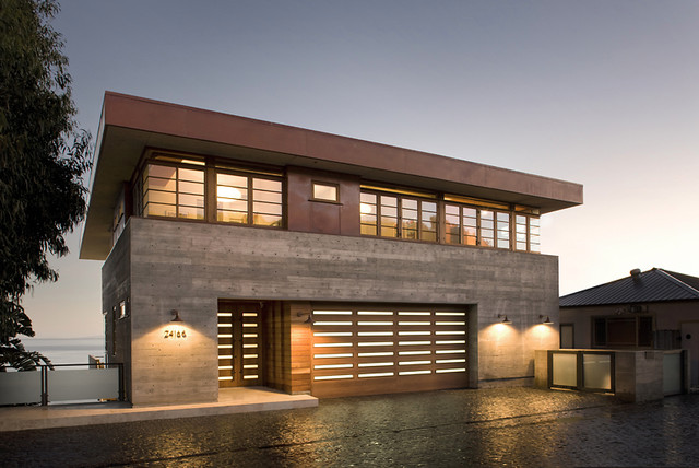 Malibu Road Beach House Contemporary Exterior Los