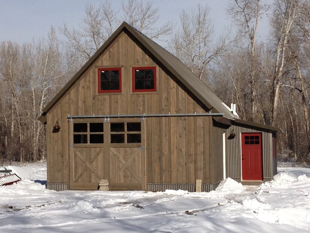 Manhattan Barn Rustic Exterior Other By Penny Lane