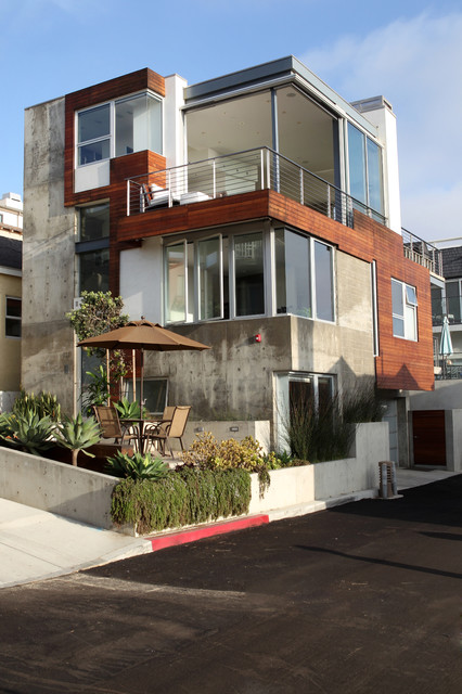Manhattan Beach Ultra Modern Whole House Exterior Remodel Modern Exterior
