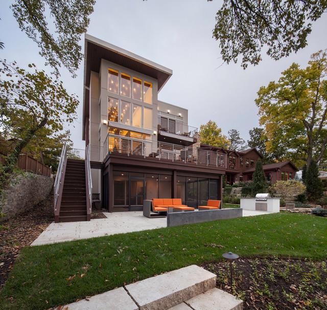 Manica Lake House Contemporary Exterior Kansas City