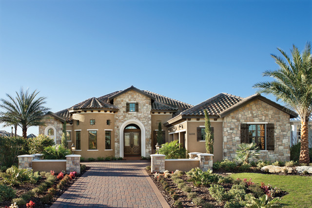 Marbella 1208 mediterranean exterior tampa by for Custom home plans florida