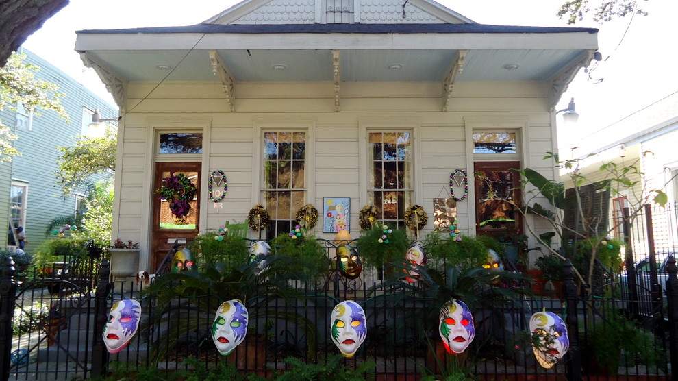 Inspiration for an eclectic exterior home remodel in New Orleans