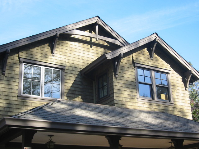 Marin Ave House Gable Roof Detail Traditional