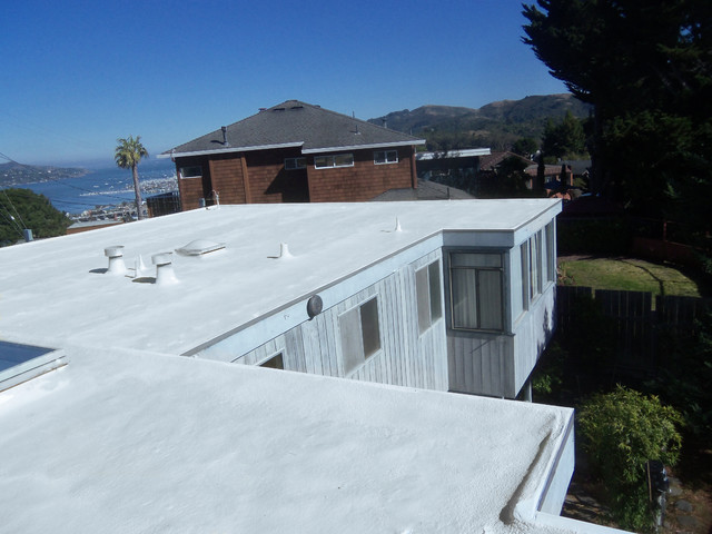 Marin County Spray Foam Flat Roof Contemporary Exterior San Francisco