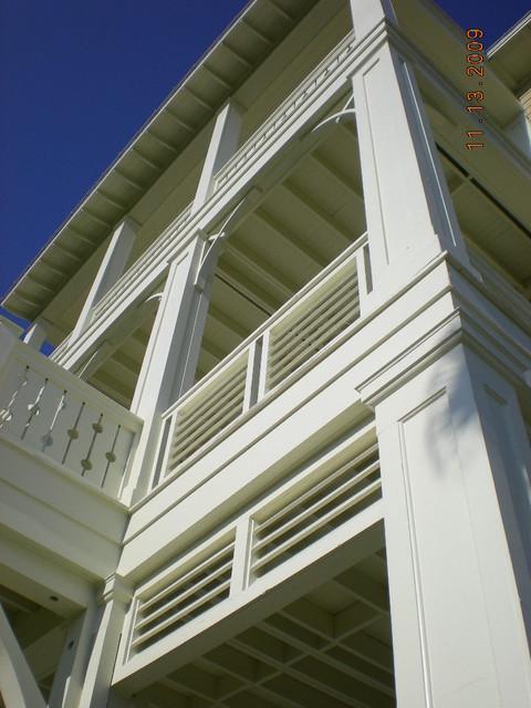 Marino Residence- Front Facade Porches traditional-exterior