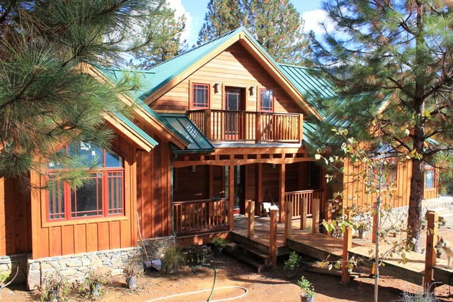 Mariposa Timber Frame Home Rustic Exterior