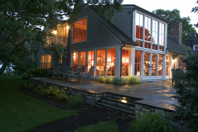 Inspiration For A Timeless Gray One Story Wood Gable Roof Remodel In Boston
