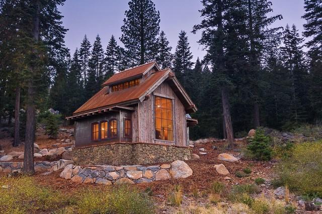 Martis Camp Hillside Barn Retreat Rustic Exterior